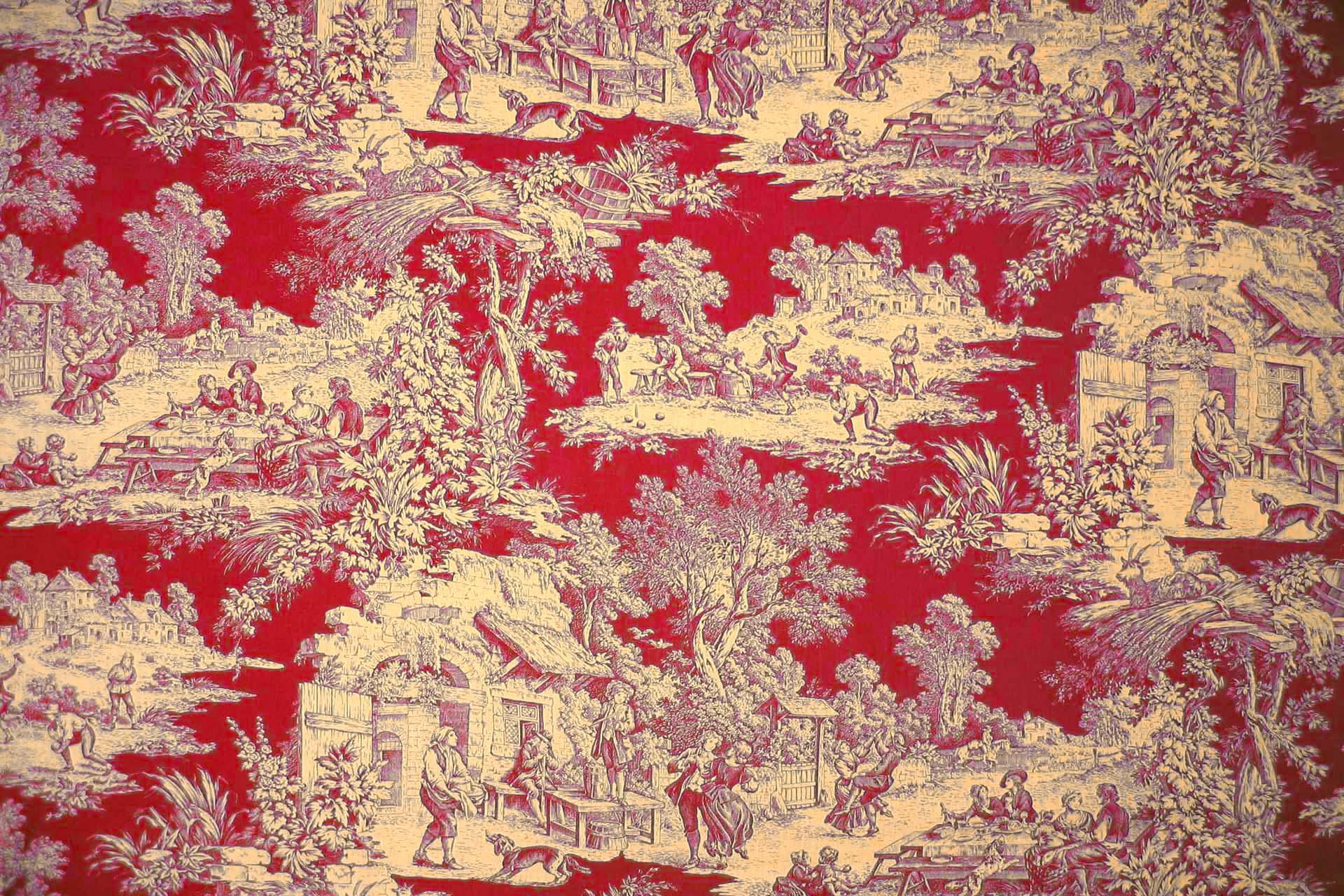 Papier peint toile de jouy papier peint toile de jouy - Papier peint toile de jouy rouge ...